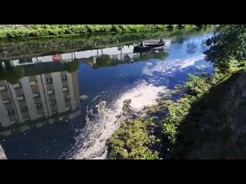Vecinos de Monforte denuncian la suciedad en el río Cabe