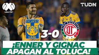¡Sin piedad! El día que Enner y Gignac bailaron a los Diablos I Tigres 3-0 Toluca AP17  I TUDN+
