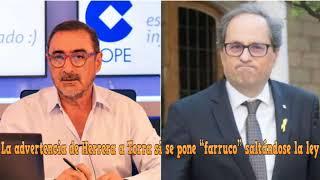 """La advertencia de Herrera a Torra si se pone """"farruco"""" saltándose la ley"""
