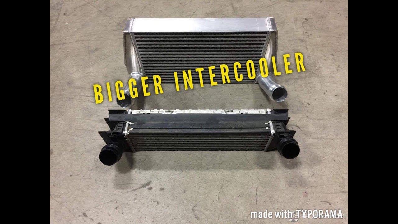 Bigger Intercooler On Bmw F30 328i Youtube