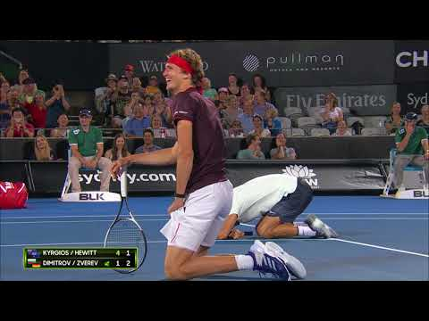Zverev doesn't want to hit Kyrgios (FAST4) | Sydney International 2018