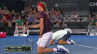Zverev doesn't want to hit Kyrgios (FAST4) | Sydney International 2018