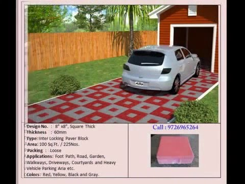 Paver Block Parking Tiles by Ravi Tiles Ahmedabad YouTube