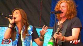 """We The Kings (Feat. Demi Lovato) - """"We'll Be A Dream"""" Live ! at Warped Tour 2010"""