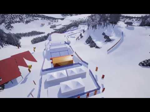 Amazing Preview of the 2018 Olympic SBX Course | FIS Snowboard