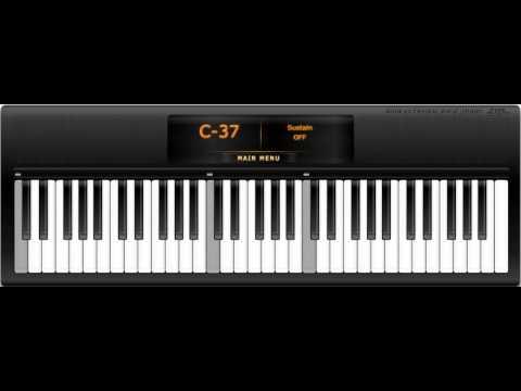Virtual Piano -  Celine Dion My heart will go on Titanic