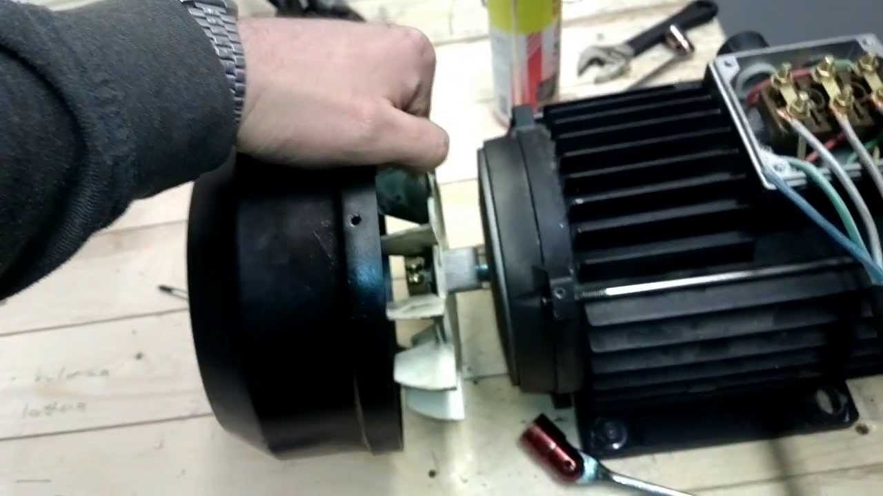 Electric Motor Assembly With New Bearings