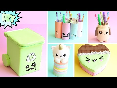 DIY KAWAII 10 ideias com material reciclado feat DIY COM VIVI