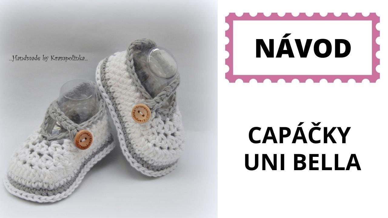 4e47f816137b8 Háčkované botičky Crochet baby booties - YouTube