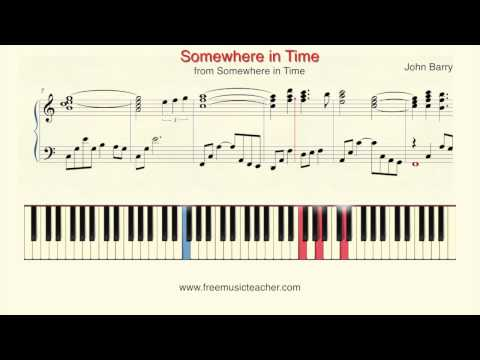 """How To Play Piano: John Barry """"Somewhere in Time"""" Piano Tutorial by Ramin Yousefi"""