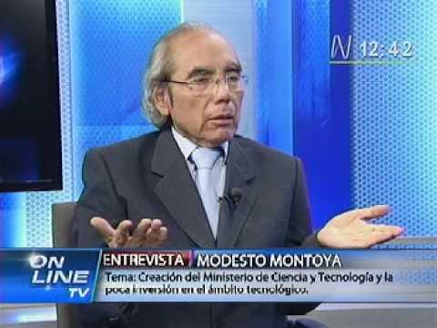 Ministerio de Ciencia y Tecnología para el Perú. Modesto Montoya en On line, Canal N