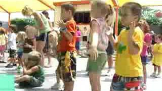 Kids Doing The Chicken Dance At Carowinds