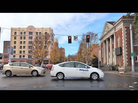 Driving Downtown - Eugene Oregon USA 4K