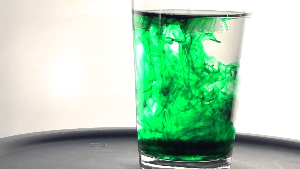 1080p Video of Green Food Coloring in Water - YouTube