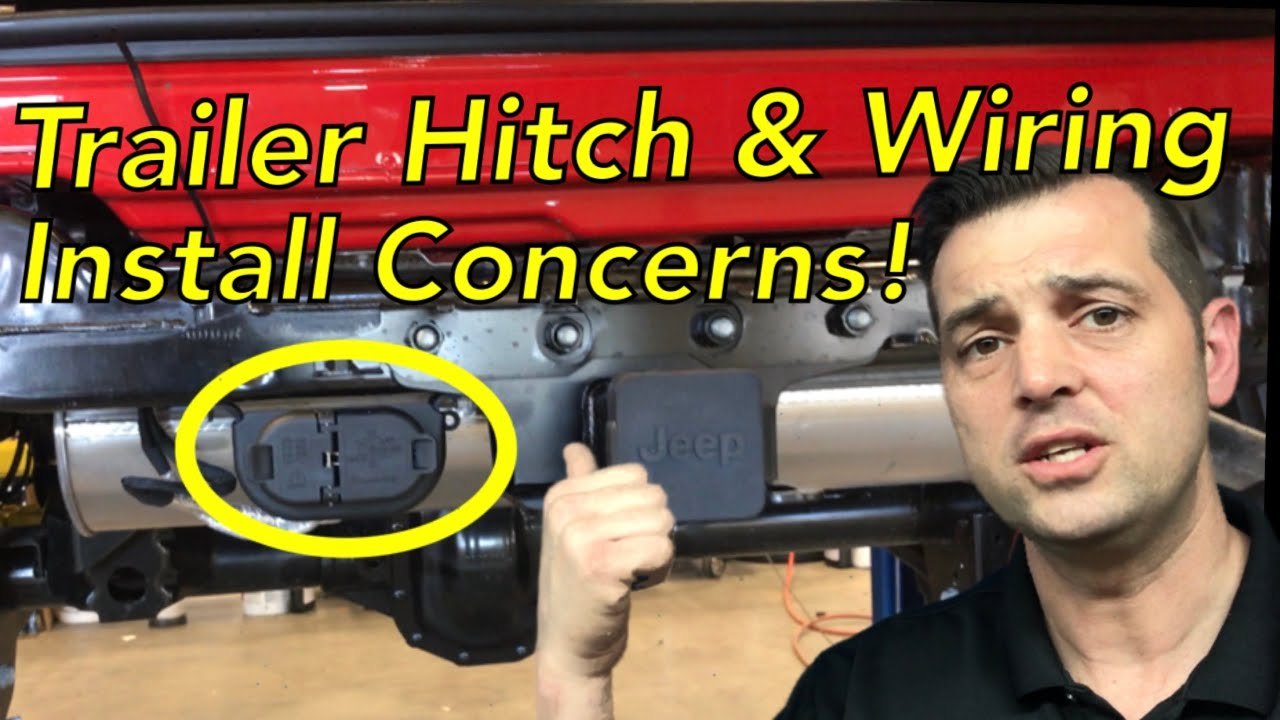 trailer hitch and wiring concerns jeep jl 2018 wrangler tow hitch  [ 1280 x 720 Pixel ]