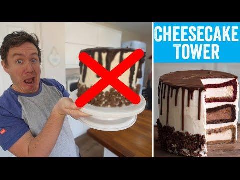 Tasty's 'Triple-Decker Cheesecake Tower' | Barry tries #12