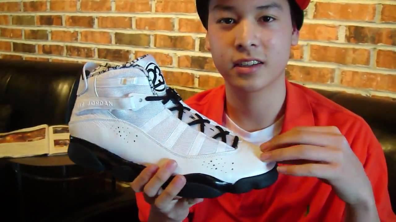 fe3f16572121 Review  Air Jordan 6 Rings - Motorsports (Black   White) - YouTube
