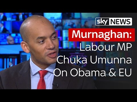 Chuka Umunna On Obama's Intervention In EU Referendum   Murnaghan