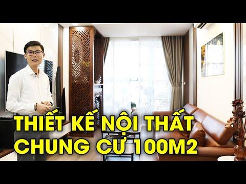 Thiết kế nội thất chung cư 3 phòng ngủ 100m2 phong cách hiện đại dự án A10 Nam Trung Yên