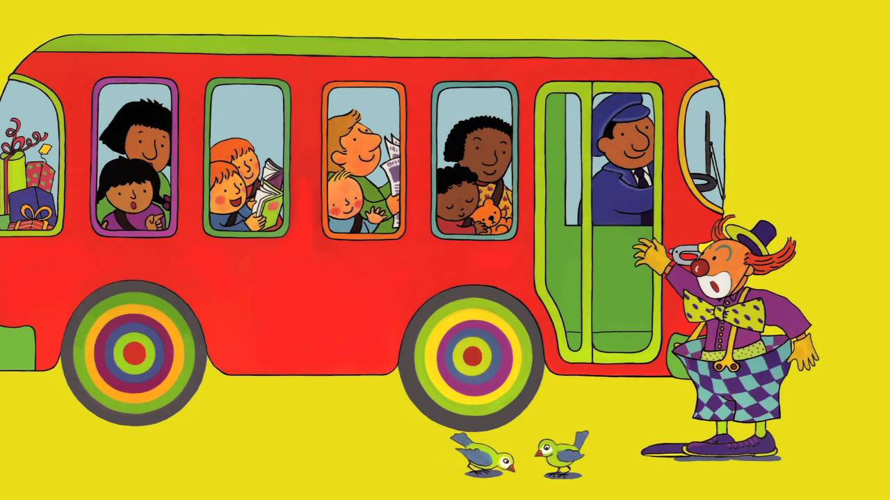 The Wheels On The Bus Go Round And Round 애니메이션 하이...