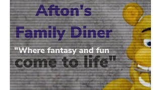 Roblox Aftons Family Diner