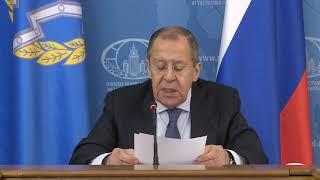 С.Лавров в ходе заседания СМИД ОДКБ,  Москва, 26 мая 2020 года