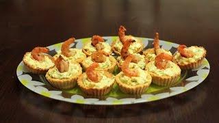 рецепт тарталеток с креветками и авокадо