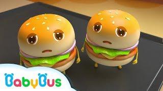巨大ハンバーガー屋さん | お店屋さんごっこ&人気動画まとめ 連続再生 | 赤ちゃんが喜ぶアニメ | 動画 | BabyBus thumbnail