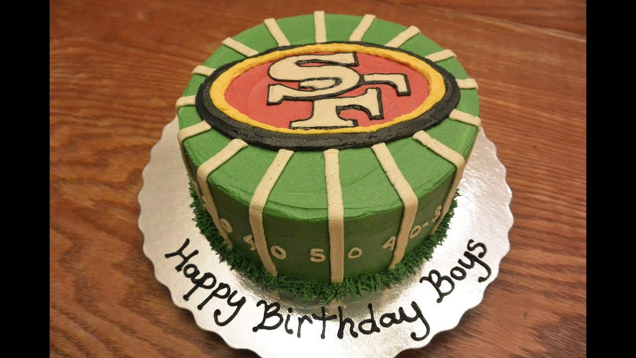 The Making Of A San Fansisco 49ers Football Cake Youtube