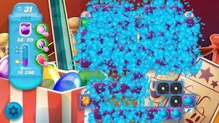 Candy Crush Soda Saga Level 1163 ★★★ Coloring Candy Fun The Highest Score