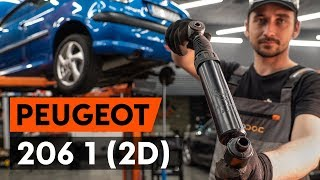 How to change rear shock absorber on PEUGEOT 206 1 (2D)  [TUTORIAL AUTODOC]
