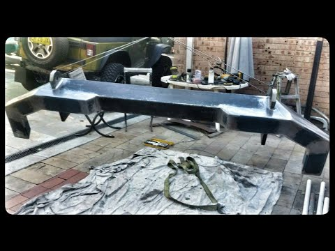 DIY Off Road Rear Bumper Bar - Jeep JK - Homemade Build