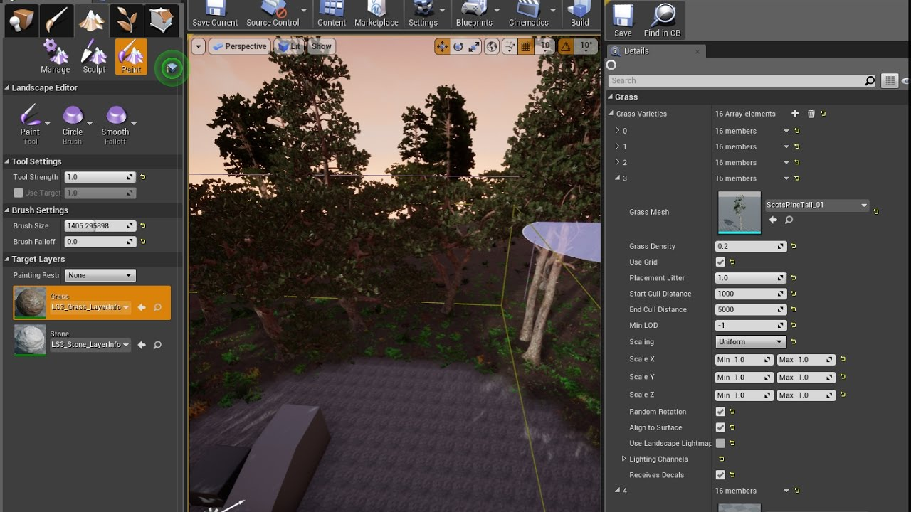 Unreal Engine 4 35 Landscape Material And Material Foliage Harita
