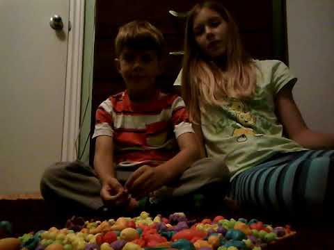 Pop beads with my sister