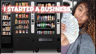 I STARTED A VENDING MACHINE BUSINESS TODAY: BUYING MY 1ST MACHINE & FIRST LOCATION.