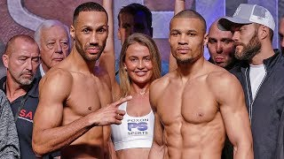 James DeGale vs. Chris Eubank Jr FULL WEIGH IN & FINAL FACE OFF | ITV Box Office