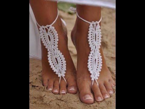 Схемы украшения для ног крючком