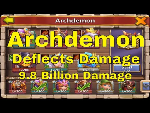 Castle Clash Archdemon Deflects Damage Breakthrough 30 Team