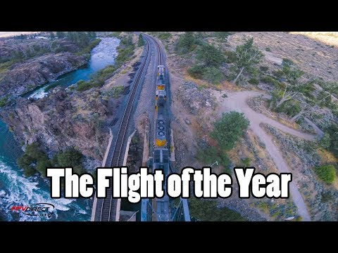 Flight of the Year // Trains, Bridges, Rapids, Mountains, Sunset, Gapping, Perching, Powerlooping