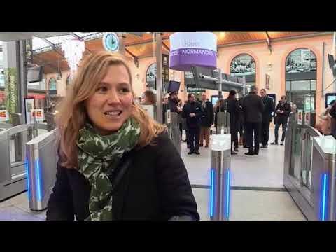 Portiques de sécurité gare Saint-Lazare vers la Normandie