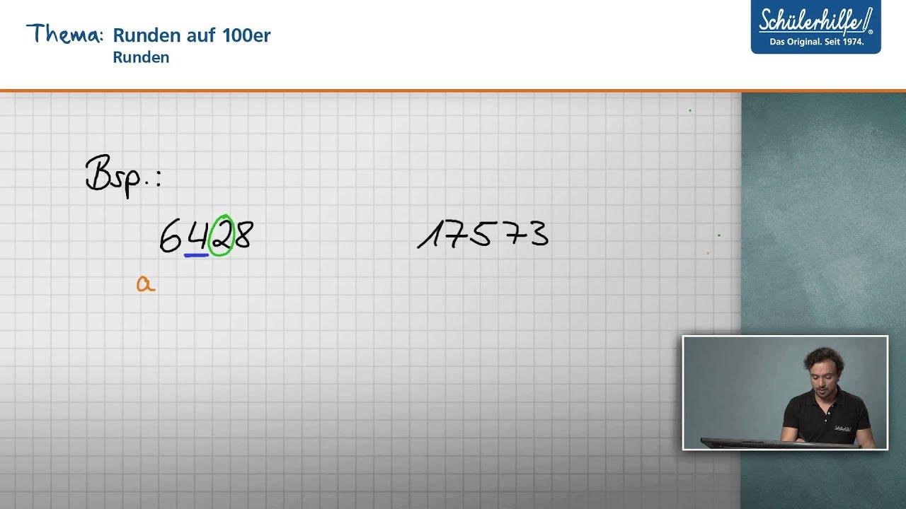 auf hunderter runden mathematik sch252lerhilfe
