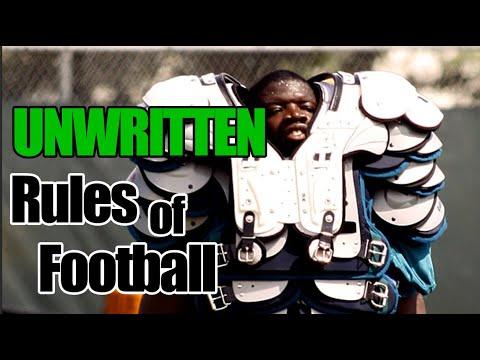 UNWRITTEN Rules of Football
