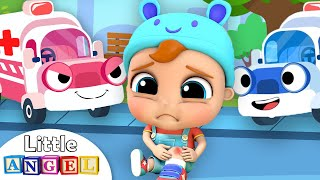 Ambulance Rescue Team | Baby Got a Boo Boo | Little Angel Kids Songs