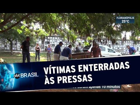 Supostas vítimas de coronavírus são enterradas às pressas em SP | SBT Brasil (28/03/20)