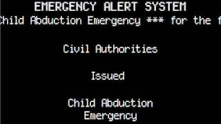 EAS Child Abduction Emergency Mock-Up
