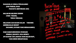 Hindia ft. Sal Priadi - Belum Tidur (Official Lyric & Commentary Video)