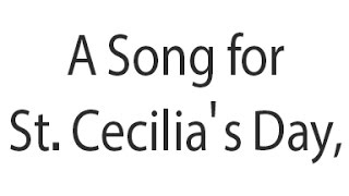 A Song for St  Cecilia's Day, 1687 by John Dryden مترجمة للعربية