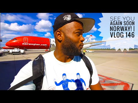 """Best Airport Shower in OSLO, NORWAY!!   Vlog 146  """"I will definitely be back in NORWAY"""""""