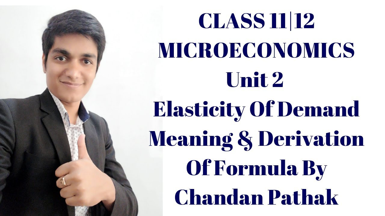 Class 11 12 Elasticity Of Demand Microeconomics Elasticity Of