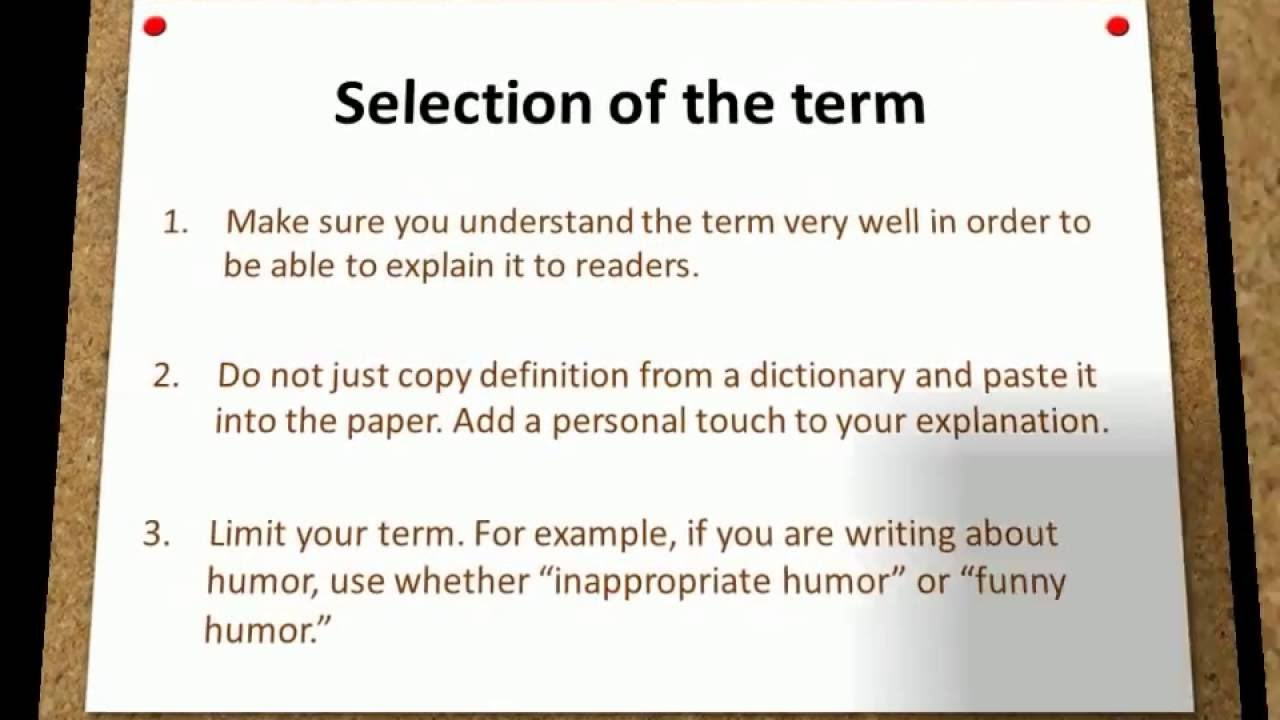 definition essay writing examples definition essay writing examples when we write a definition first chose a term to define that